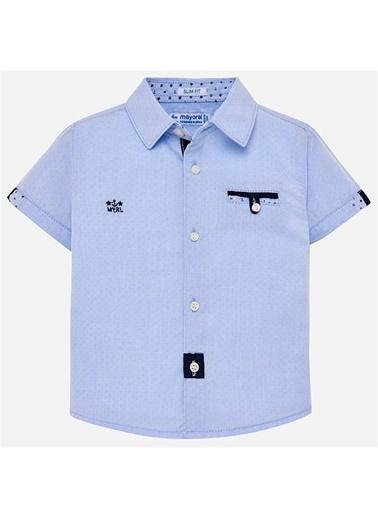 Mayoral Mayoral Erkek Bebek Kısa Kol Gömlek Mavi